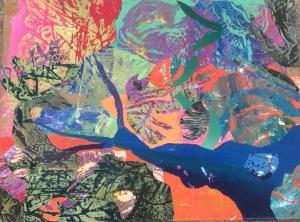 Baie des chaleurs Collage-acrylique, 2014 18 x 14 po. Vendu