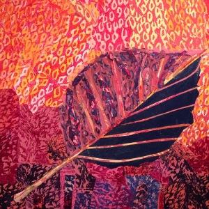 Feuille d'automne-2 Collage-acrylique, 2014 20 x 20 po. 200 $