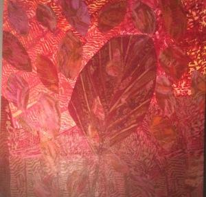 Feuille d'automne-3 Collage-acrylique, 2014 20 x 20 po. Vendu