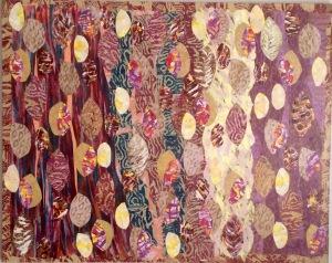 Feuilles d'automne entre ciel et terre Collage-acrylique, 2015 30 x 24 po. 270 $