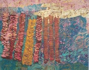 La sentinelle Collage-acrylique, 2015 30 x 24 po. 270 $