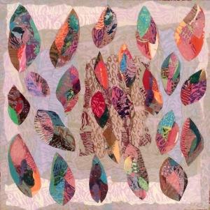 Les feuilles mortes se ramassent à la pelle Collage-acrylique, 2015 24 x 24 po. 240 $