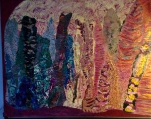 Pleine lune de mars Collage-acrylique, 2015 30 x 24 po. 270 $