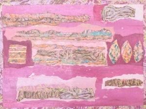 Pris dans les glaces Collage-acrylique, 2015 16 x 12 po. 140 $