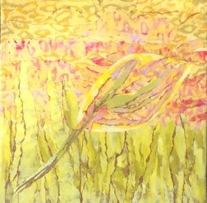 Feuille jaune-1 Collage-acrylique, 2015 18 x 18 po. 200 $