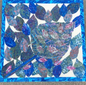Feuilles fossiles Collage-acrylique, 2015 18 x 18 po. 200 $