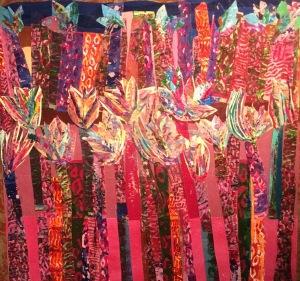 Palmiers incandescents Collage-acrylique, 2014 24 x 24 po. 240 $