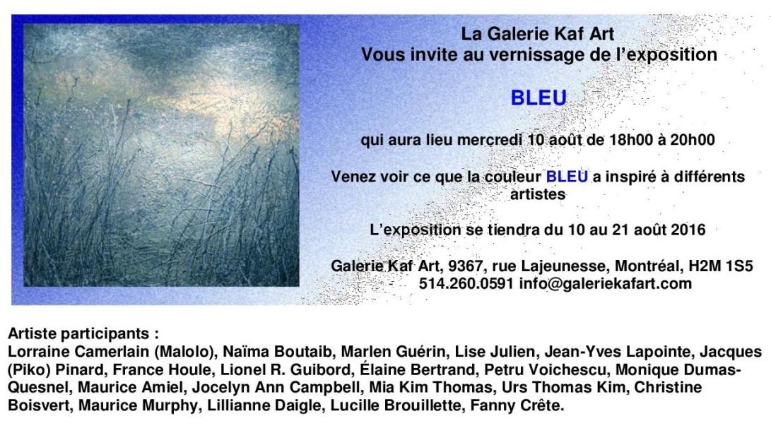 Invitation bleu 2016
