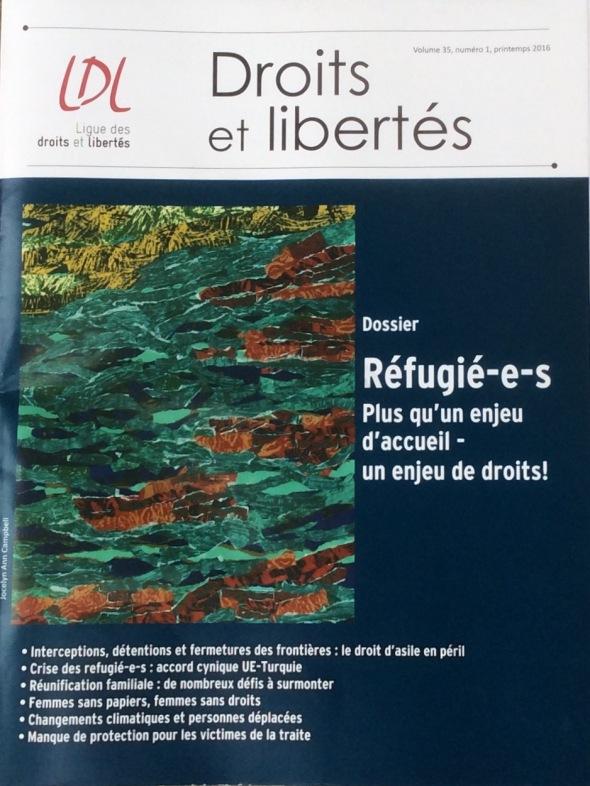 Couverture Droits et libertés, printemps 2016